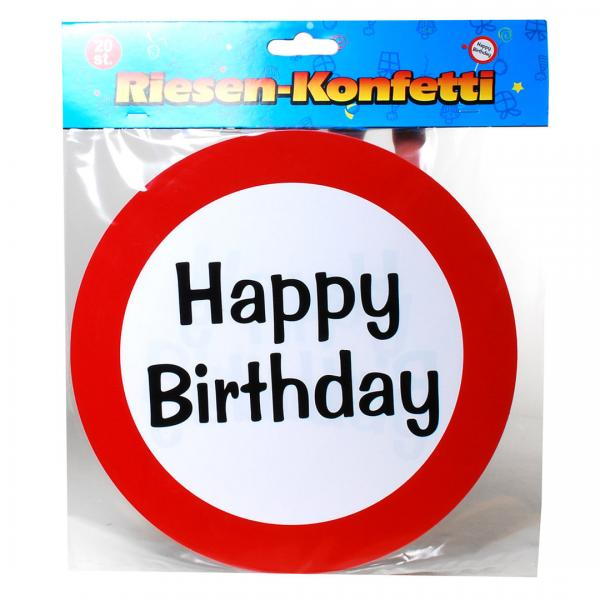 "Riesen-Konfetti ""Happy Birthday"""