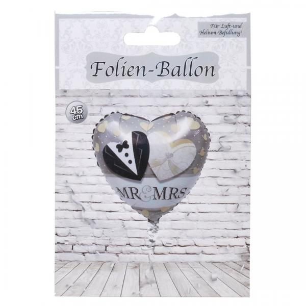 "Folien-Ballon ""Mr. & Mrs."", herzförmig"